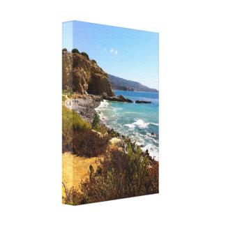 California Coastline Stretched Canvas Print