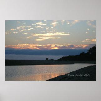 California Coastline - Carmel Sunset (2) - Poster