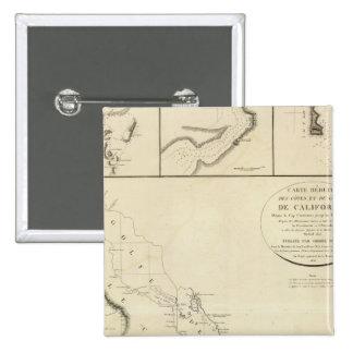 California coasts 15 cm square badge