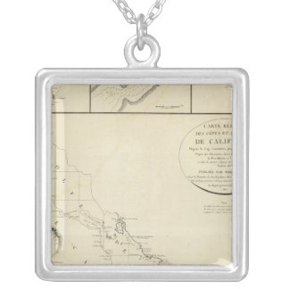 California coasts silver plated necklace