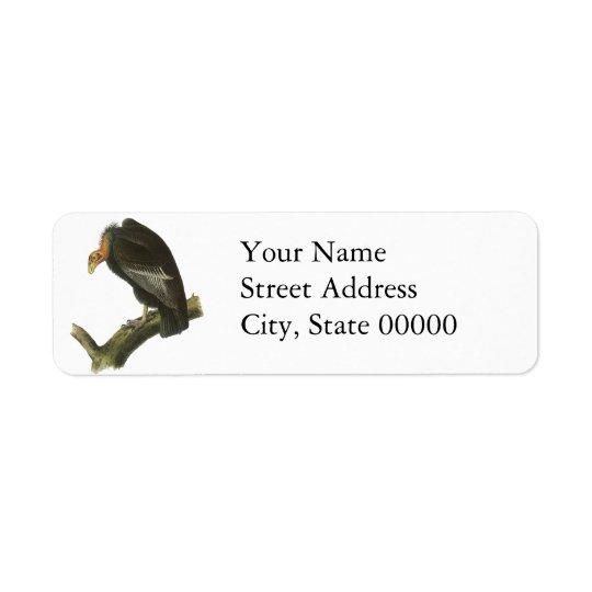 California Condor, John Audubon Return Address Label