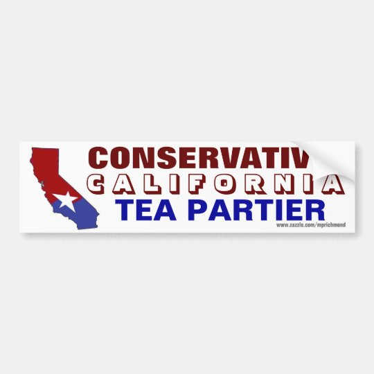California Conservative Tea Partier Bumper Sticker