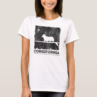 California Corgifornia Corgi Surfboard T-Shirt