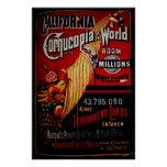 California Cornucopia of the World Poster