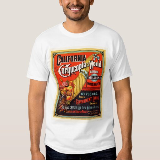 California - Cornucopia of the World Tee Shirts