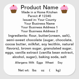 CALIFORNIA Cottage Law Product Label