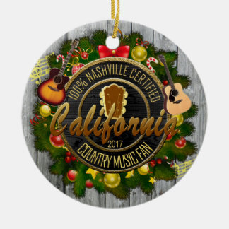 California  Country Music Fan Christmas Ornament