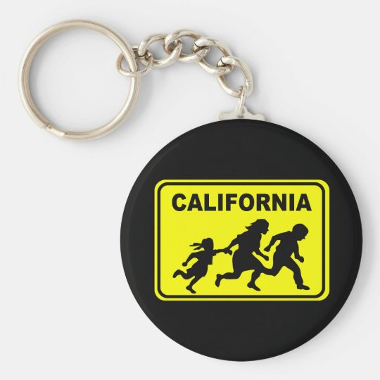 California Crossing Basic Round Button Key Ring