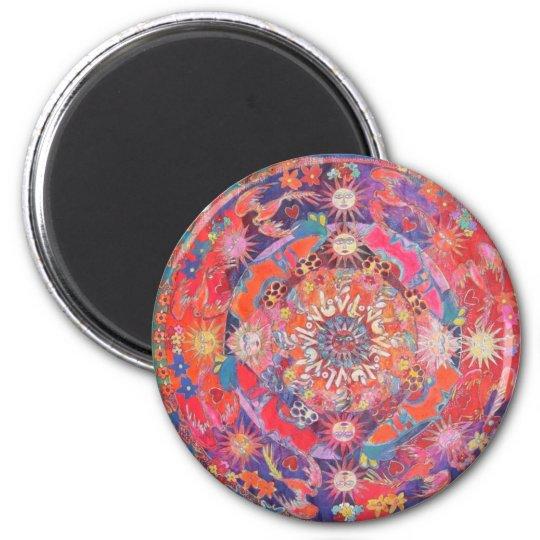 California Daz e Mandala 6 Cm Round Magnet