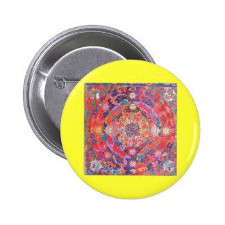 California Daz e Mandala eastern art button