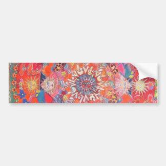 California Daze Mandala Bumper Sticker