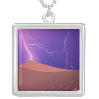 California, Death Valley National Park, Silver Plated Necklace