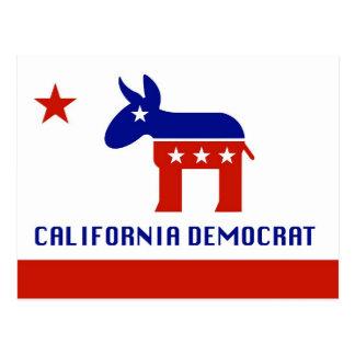 california democrat postcard