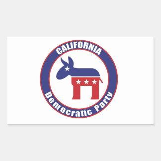 California Democratic Party Rectangle Sticker