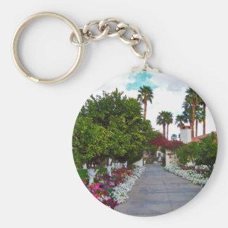 California Desert Resort Basic Round Button Key Ring
