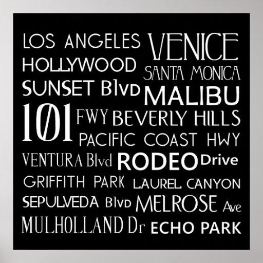 California Destinations Poster