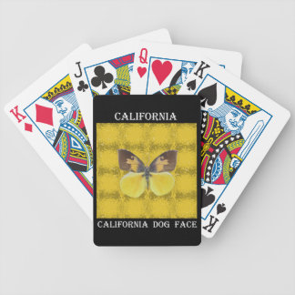 California Dog Face Butterfly Bicycle Poker Deck
