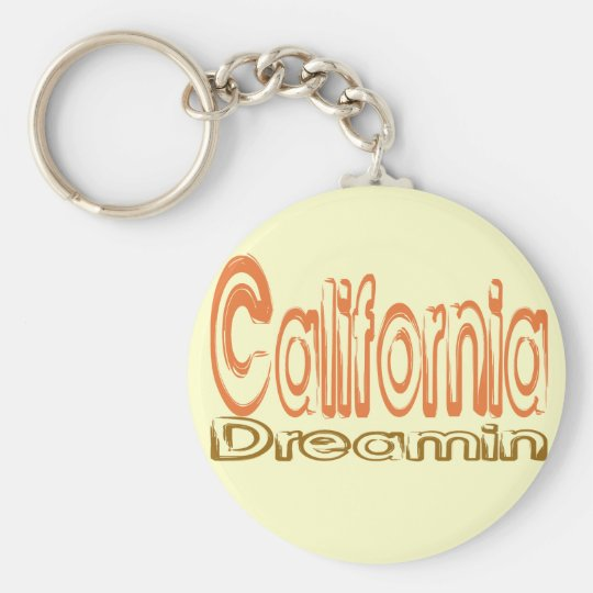 California Dreamin' Basic Round Button Key Ring