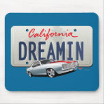 California dreamin-Camaro2 plate Mouse Pad