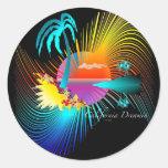 California Dreamin Round Sticker