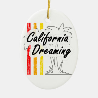 California Dreaming Ceramic Oval Decoration