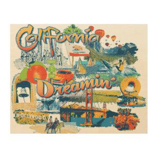 California Dreaming Wood Print