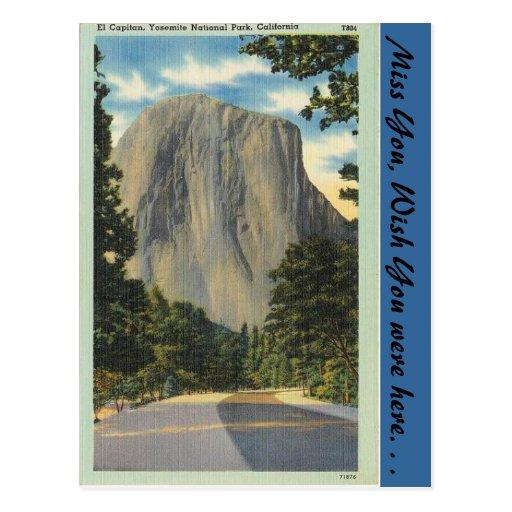 California, El Capitan Post Card