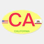California* European-Style Oval Bumper Sticker