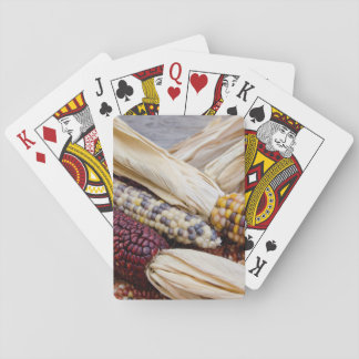 California. Fall Harvest Colorful Indian Corn Playing Cards
