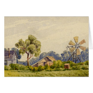 California Farm, Near Stockton Card