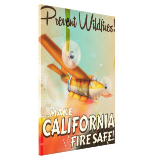 California Fire safe vintage poster Gallery Wrapped Canvas
