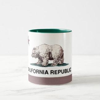California_Flag2 Two-Tone Mug