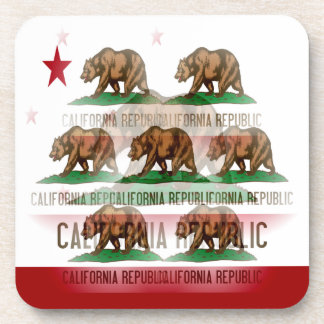 California Flag Abstract Coaster