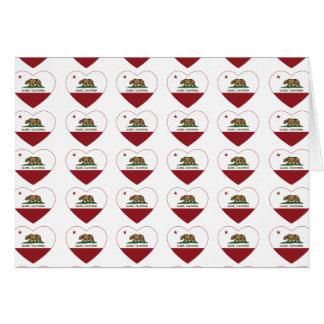california flag alamo heart cards