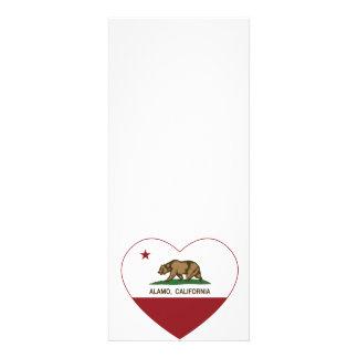 california flag alamo heart personalized announcements
