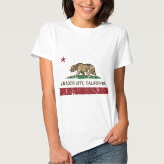 california flag amador city distressed tees