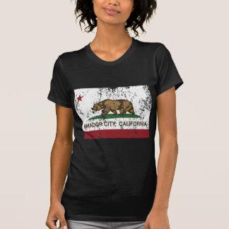 california flag amador city distressed tee shirt