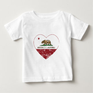 california flag amador city heart distressed baby T-Shirt