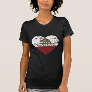 california flag amador city heart distressed T-Shirt