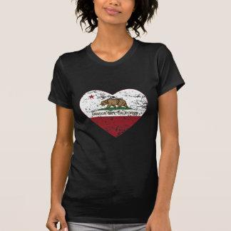 california flag amador city heart distressed tshirts