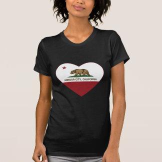 california flag amador city heart t-shirt