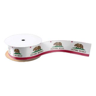 California flag, American state flag ribbon Satin Ribbon