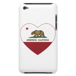 california flag anderson heart Case-Mate iPod touch case