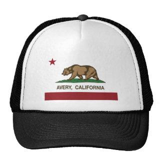 california flag avery trucker hat