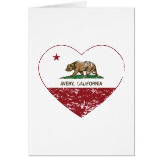 california flag avery heart distressed card