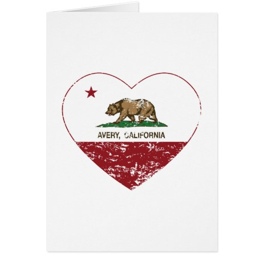 california flag avery heart distressed card