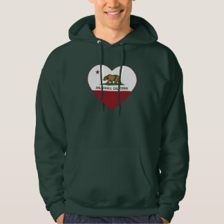 california flag avila beach heart hoodie