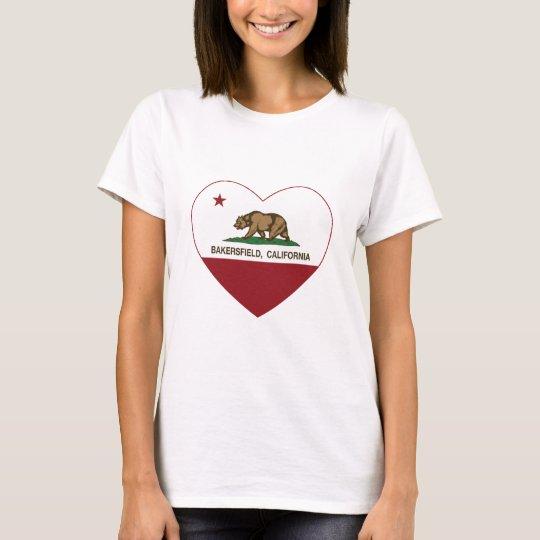 california flag bakersfield heart T-Shirt