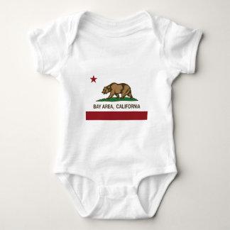 california flag bay area baby bodysuit