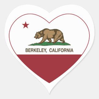 california flag berkeley heart heart sticker